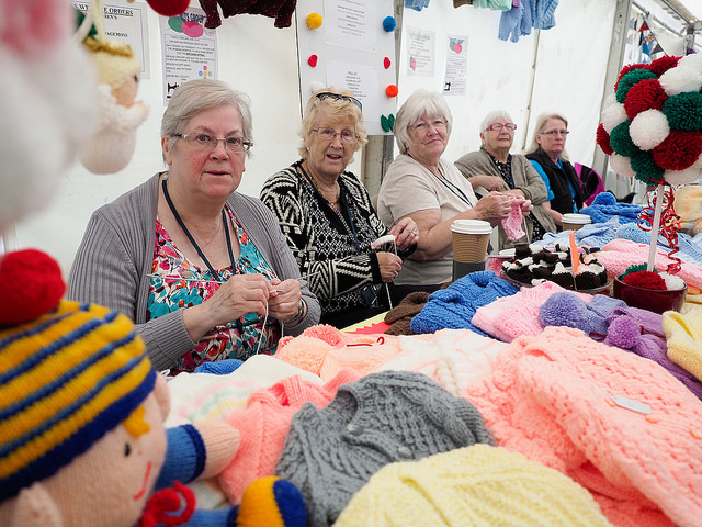 knitwear stall at Knowsley flower Show 2018